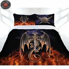 3 Pce Anne Stokes DRAGON WARRIOR Quilt Doona Duvet Cover Set - QUEEN KING