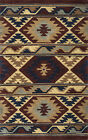 Southwestern Tribal Plush Hand Tufted Wool Brown Area Rug **FREE SHIPPING**