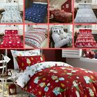 Christmas Xmas Brushed Cotton Bedding Sets - Elf Penguins Nordic Reindeers