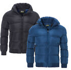 Men's Quilted Puffer Jacket Padded Warm Lined Winter Bubble Coat New 2017