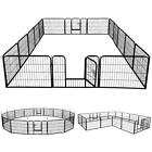 """24"""" 40"""" Tall Dog Playpen Crate Fence Pet Play Pen Exercise Cage 8/16 Panels"""