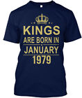 Kings Are Born In January 1979 - Hanes Tagless Tee T-Shirt