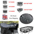 Waterproof 4/6/8/10 Seater Garden Furniture Table Set Rain Cover Outside Patio F