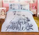 *** Cinderella Single Bed Quilt Cover Set - Flat or Fitted Sheet ***