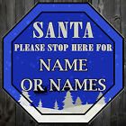 Christmas Decoration Make Your Own Personalise Santa Stop here Sign Xmas Kids