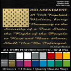2nd Amendment text on Flag with solid stars NRA Gun Control rights  3% MolonLabe
