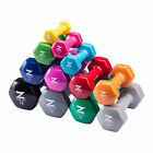 1 Pair Hand Weight Sets Dumbbell Set Non-Slip Grip for Women/Men 1 - 15 lbs