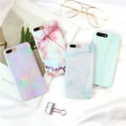 For iPhone 7 6 6s Plus Marble Stone Printed Soft Shockproof Slim Back Case Cover