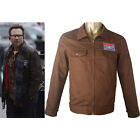 TV Mr Robot Edward Alderson Christian Slater Coat Jacket Patch Cosplay Costume