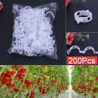 50-200pcs Tomato Veggie Garden Plant Support Clips for Trellis Twine Greenhouse
