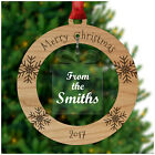 Merry Christmas from the FAMILY SURNAME Personalised Xmas Tree Decorations Gifts