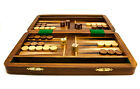 """Personalised 10"""" X 6"""" Backgammon Games Set in Stylish Rosewood Box Engraved Gift"""