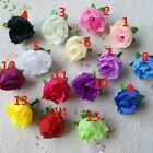 100PCS Rose Head Artificial Silk Flower Heads Wedding Party Decoration KJPvc