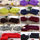 US 1 2 3 4 Sofa Cover Slipcover Couch Stretch For L Shape Sectional Corner Soft