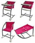 Bebe Style 4-in-1 MeGrow Highchair Rocker Baby High Chair Green Pink or Red