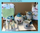 NEW PATCHWORK CHICKENS PRICE & KENSINGTON FULL RANGE TEAPOT COASTERS STORAGE JAR