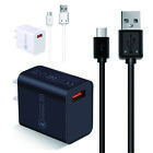 Wall Charger Micro USB Cable Fast Charging Cord For Samsung Tablet Android phone