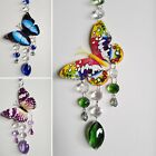 HANGING CRYSTAL SUNCATCHER WITH NIGHT GLOW BUTTERFLY WINDOW RAINBOW MOBILE HOME