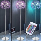 LED floor lamp living room RGB remote control chrome flowers stand lamp dimmable