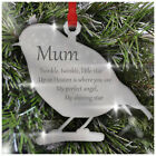 PERSONALISED Remembrance Bauble ROBIN In Loving Memory Xmas Decoration Mum Dad