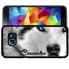 PERSONALIZED RUBBER CASE FOR SAMSUNG S5 S6 S7 S8 EDGE PLUS WHITE WOLF
