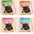 US Magic Book Scratch Art Painting Book Paper Colorful Educational Playing Toys