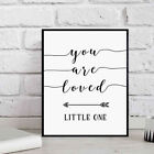 You Are Loved Little One Wall Decal Poster Home Art Decor Painting Flowery