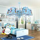 Blue Mickey Mouse Children's Ceiling Lamp/Light & Matching Table and Wall Lamp