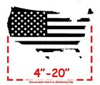 """Country Outline American Flag Patriotic Decal 4""""-20"""" US Seller!"""