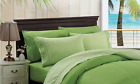 6 Piece Chakras Energetic Embroidered Cotton Blend Sheet Set - Lime Green / Sage image
