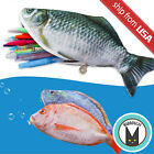 Novelty Realistic Fish Pencil Case Cosmetic Bag Purse Zipper Pouch Funny Cute