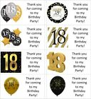40x gold personalised 18th/18 year old labels/stickers/birthday/party/sweets/bag