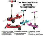 Kids Children Water Spray Rocket Scooter LED Wheels Music Foldable Push Kick