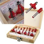 "HK- 12/15pcs 1/4"" Router Bit Set Shank Tungsten Carbide Rotary Woodworking Exot"