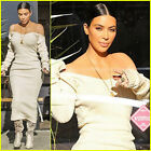 KIM KARDASHIAN Inspired Nude Off-Shoulder Long Sleeve Sweater Dress, S, M, L