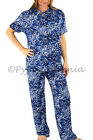 Pyjamas Ladies Summer PJs Short Sleeve 2pc set Blue Leopard 0580 Sz 8 10 12 14 1