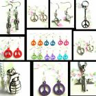 WAR AND PEACE KEYRING EARRINGS NECKLACE MILITARY SYMBOL SOLDIER