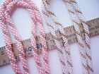 Vintage 1960's Faux Seed Pearl Woven Twist Wide Rope Torsade Necklace Choose