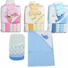 Little Mimos Baby Bath Hooded Towel 6pc W/Wash cloth Blue фото
