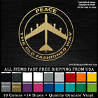 Peace The Old Fashioned Way Waterproof Vinyl Sticker Decals