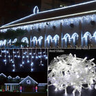 Hoary 96-1000 LED Christmas Loop Fairy Indoor/Alfresco Icicle Curtain Lights US