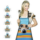 Blue Cute Snimal Pet Dog Aprons Women Cooking Kitchen Cleaning Apron Dress Gifts