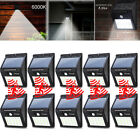 10 Pack Waterproof 20 LED Solar PIR Motion Sensor Wall Light Outdoor Garden Lamp
