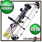 Vulture Muddy Pink Compound Bow 25-45lb Ready to Shoot Youth and Womens Package