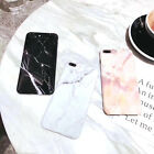 Marble Pattern Shakeproof Matte Soft TPU Phone Case Back Cover Skin Bumper Plate