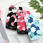 3D Rose Flower Solid  Soft Silicone Shakeproof Phone Case Back Cover For iPhone