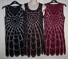 1920's Inspired Flapper Dress Size 10 French Beaded Piping Embellished - Party