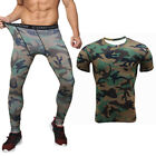 2Pcs Mens Thermal Compression Base Layer Shirt Under Pants Tights Activewear Set