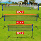 Height Adujstable Badminton Net Tennis Volleyball W/Stand Frame Indoor Outdoor