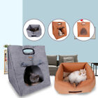 Portbale Pet Cat Dog Bed Portable Puppy Kennel Kitten Pad House Mat Travel Cave